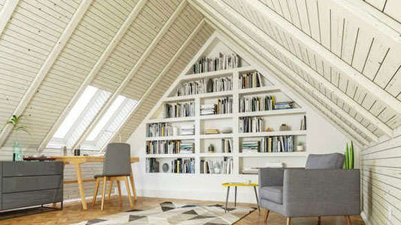 Convert roof into home office