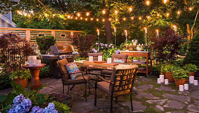 Dining with the stars backyard